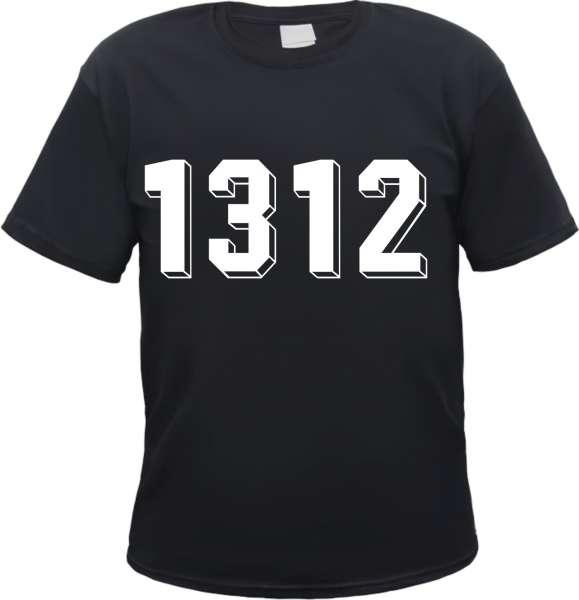 Angebot - 1312 T-Shirt - Schattenzahlen - Schwarz