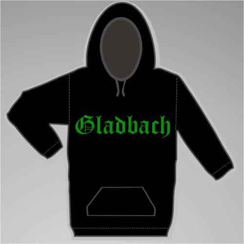 GLADBACH Sweatshirt + Altdeutsch + schwarz