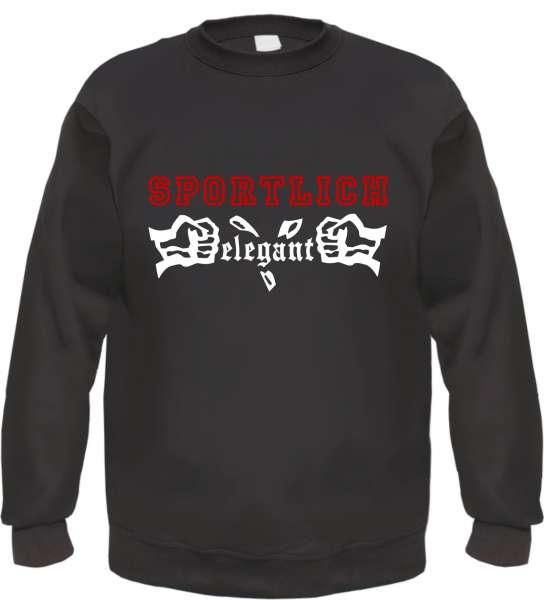 Sportlich Elegant Sweatshirt - Schwarz Weiss Rot