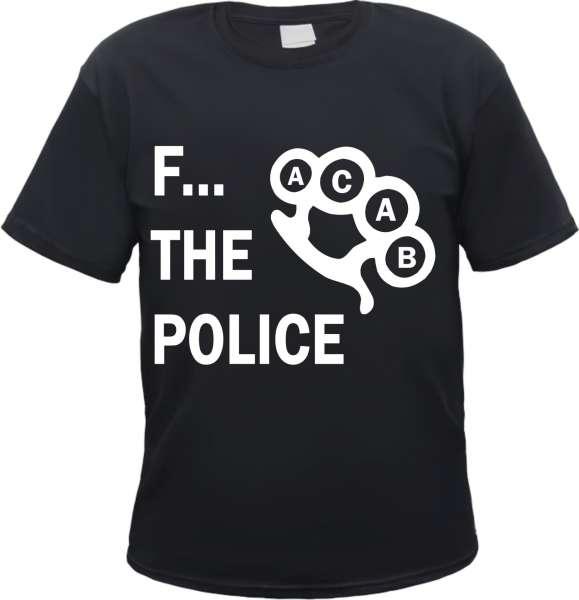 F... The Police T-Shirt - Schlagring - Schwarz