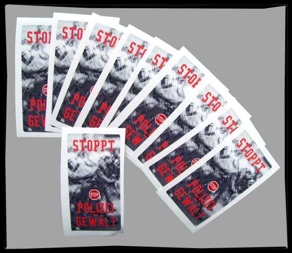STOPPT POLIZEIGEWALT Aufkleber / Sticker