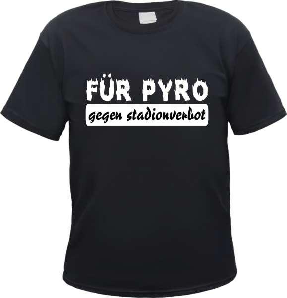Für Pyro T-Shirt - Gegen Stadionverbot - Schwarz
