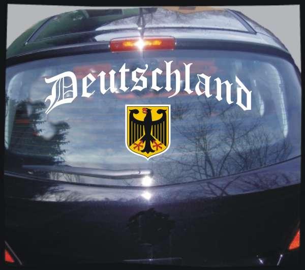 Deutschland Heckscheibenkleber Altdeutsch mit Wappen