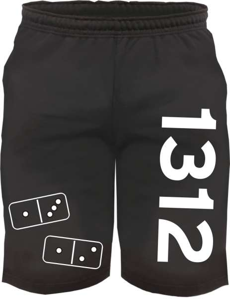 Sweatshorts - 1312 Dominosteine - Kurze Jogginghose