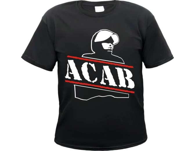 ACAB T-Shirt - Polizist - Schwarz Weiss Rot