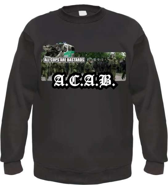 ACAB Sweatshirt - Polizeimob - Schwarz