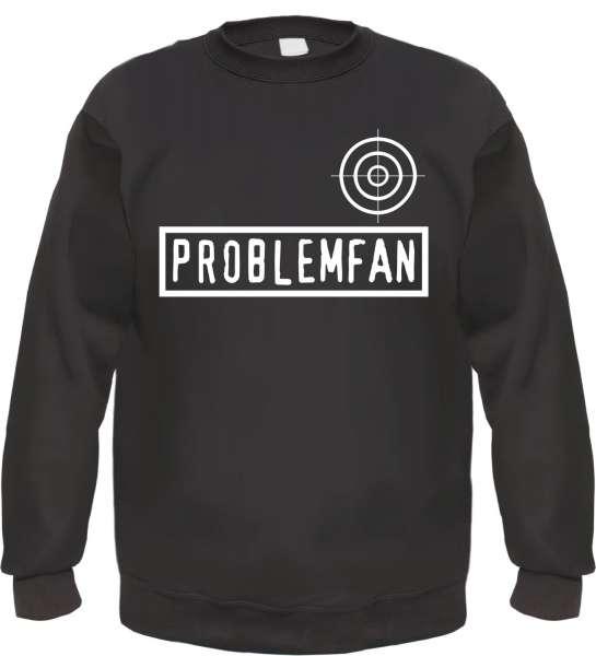 Problemfan Sweatshirt - Fadenkreuz - Schwarz