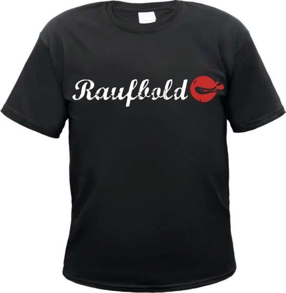 Raufbold T-Shirt - Schwarz Weiss Rot