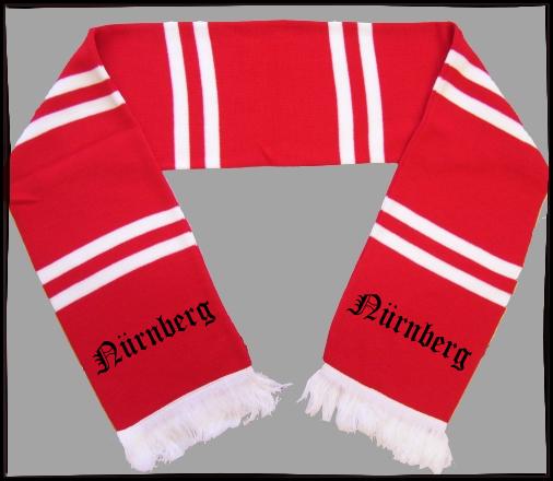 NÜRNBERG Balkenschal + rot/weiss + schwarz bestickt