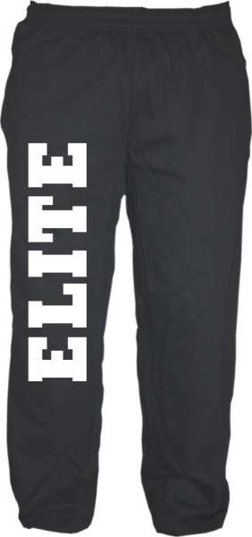 Jogginghose - ELITE - Sweatapants - Schwarz