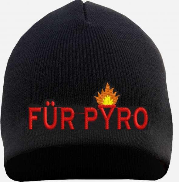Für Pyro Beanie Mütze - Schwarz