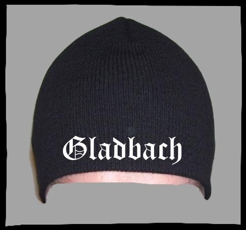 GLADBACH Beanie Mütze - Schwarz - Bestickt