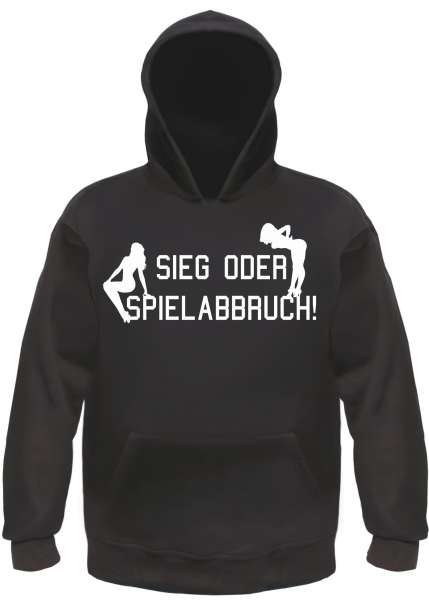 Sieg oder Spielabbruch! Sweatshirt SEXCLUB + NEU + schwarz