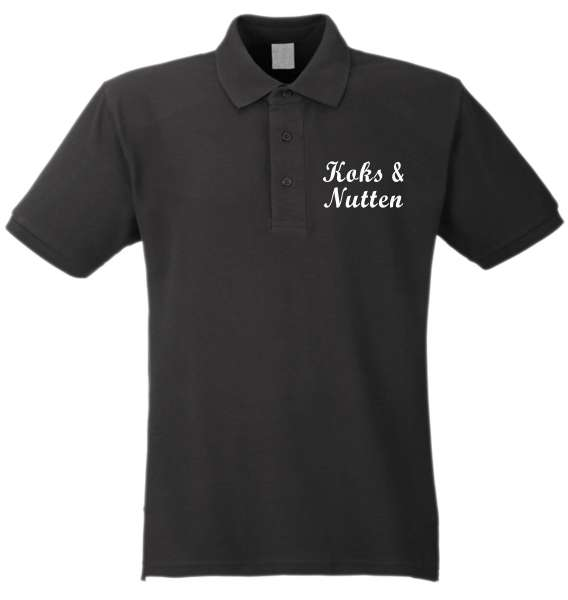 Koks und Nutten Poloshirt - schwarz/weiss