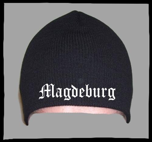 MAGDEBURG Beanie Mütze - Schwarz - Bestickt