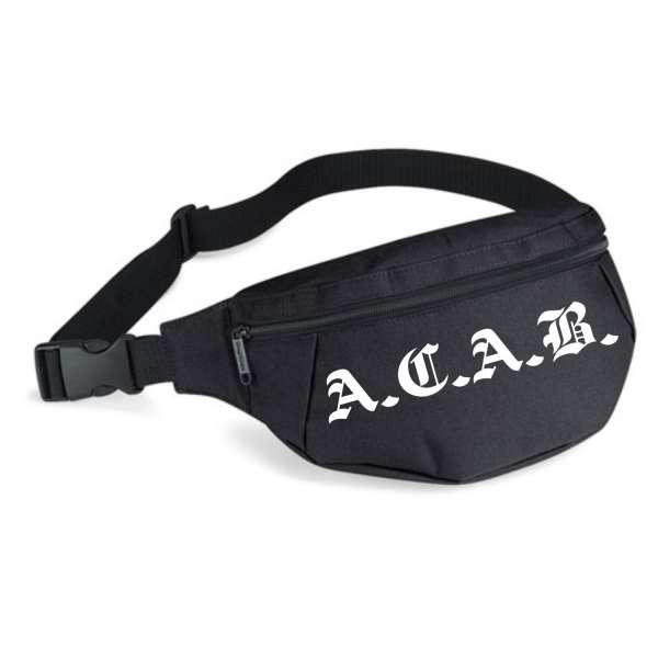 A.C.A.B. Bauchtasche + Altdeutsch + schwarz/weiss