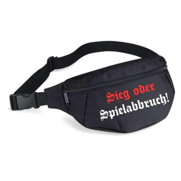Sieg oder Spielabbruch Bauchtasche - Altdeutsch - Schwarz