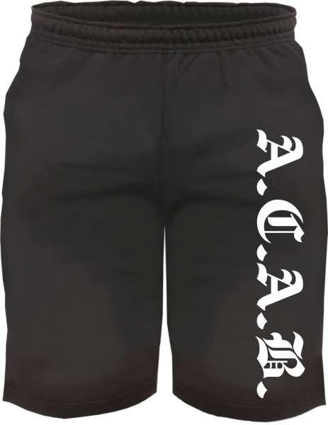 Assi-Sweat-Shorts A.C.A.B. + schwarz/weiss
