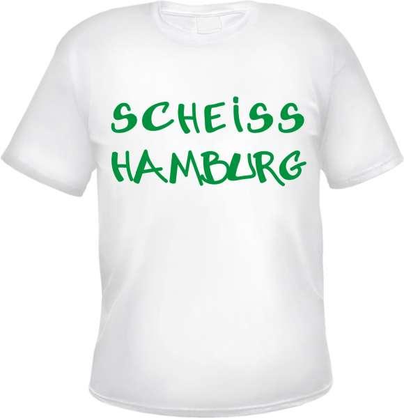 SCHEISS HAMBURG T-Shirt +++ weiss/grün