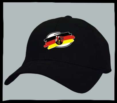 Bundesland: RHEINLAND-PFALZ Kappe/Cappy + schwarz mit Wappen