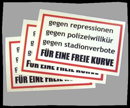 FÜR EINE FREIE KURVE Aufkleber / Sticker