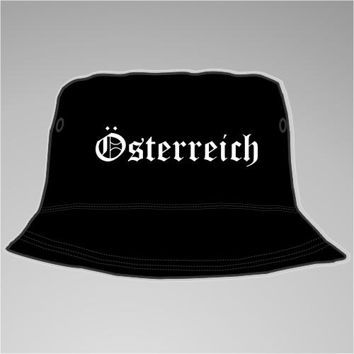 Österreich Fischer-Hut +++ schwarz/weiss