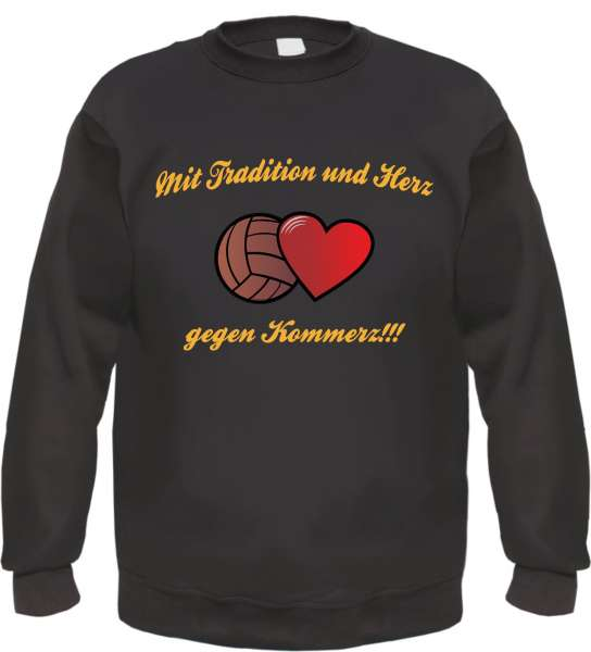 Sweatshirt - Mit Tradition und Herz gegen Kommerz - GOLD