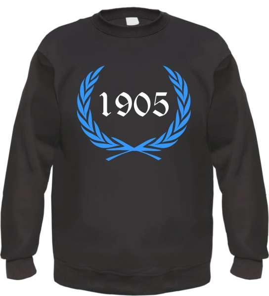 Individuelles Sweatshirt - Lorbeerkranz mit Zahl