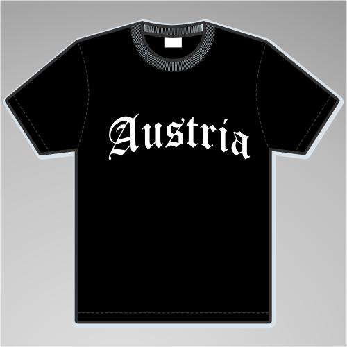 Austria T-Shirt Altdeutsch +++ schwarz/weiss