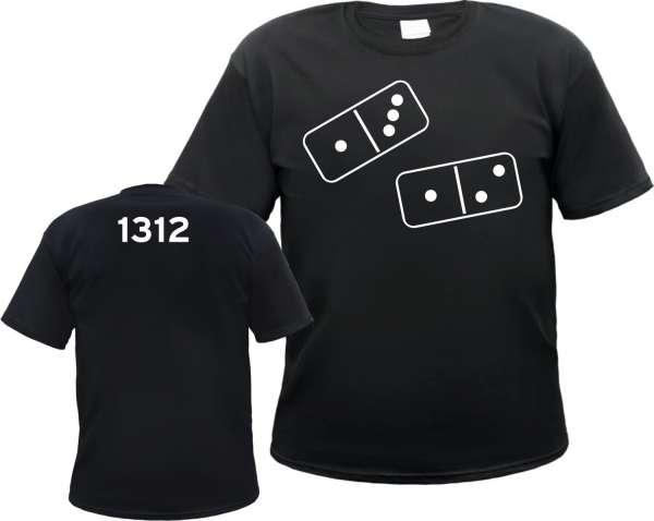 1312 T-Shirt - Dominosteine - Schwarz