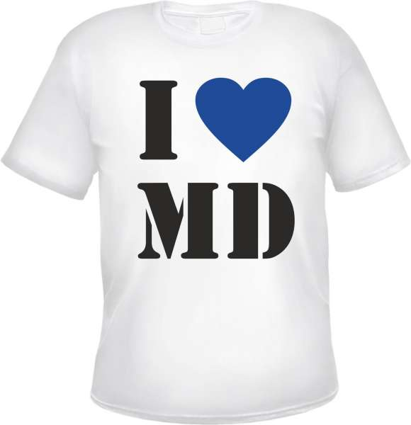 MAGDEBURG T-Shirt - I Love MD - Weiss