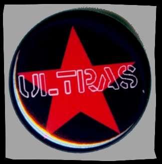 Ultras Roter Stern Button +++ schwarz