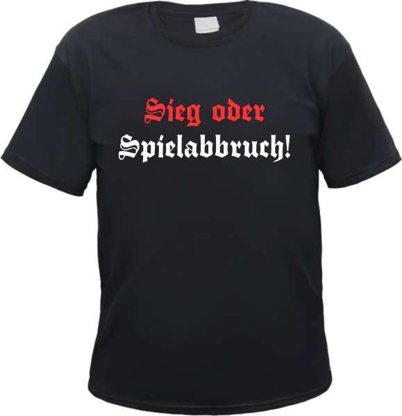 Sieg oder Spielabbruch T-Shirt - Altdeutsch - Schwarz Rot Weiss