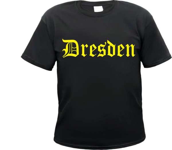 DRESDEN T-Shirt + Altdeutsch + Druckfarbe wählbar