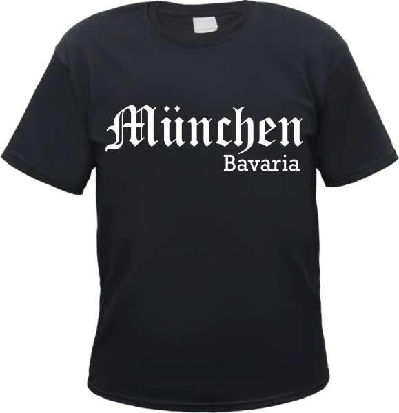 MÜNCHEN T-Shirt - Altdeutsch - Bavaria - Schwarz