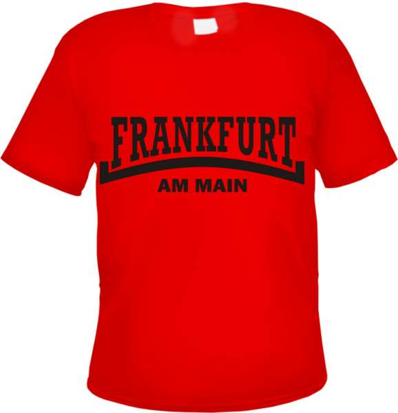 FRANKFURT Am Main T-Shirt - Linie - Rot/Schwarz