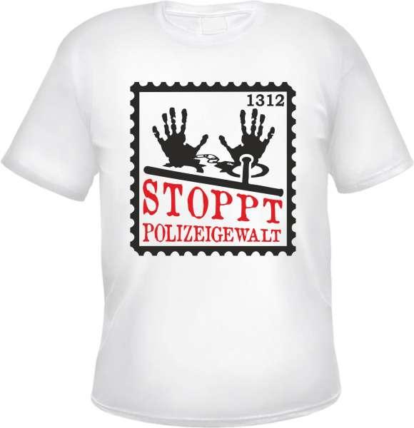 Stoppt Polizeigewalt T-Shirt + BRIEFMARKE + schwarz oder weiss