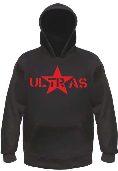 Ultras Sweatshirt - Roter Stern - Schwarz