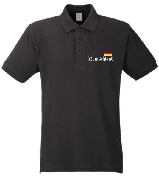 Deutschland Poloshirt - Altdeutsch / Flagge - Gestickt