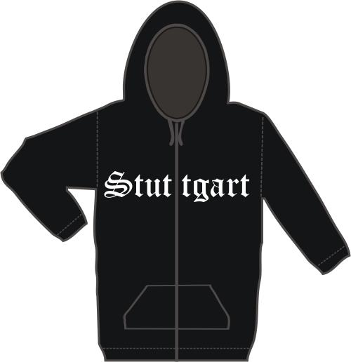 STUTTGART Kapuzen-Jacke + Altdeutsch + schwarz