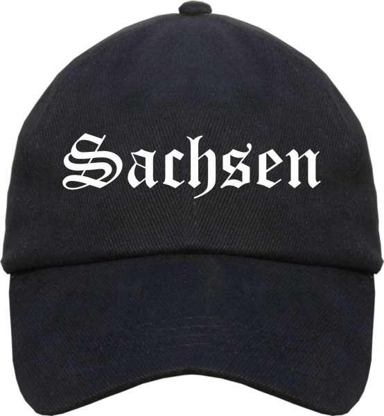 Sachsen Cappy - Altdeutsch - Schwarze Schirmmütze