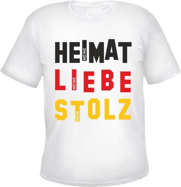 Deutschland T-Shirt - WEISS - Heimat Liebe Stolz - Block