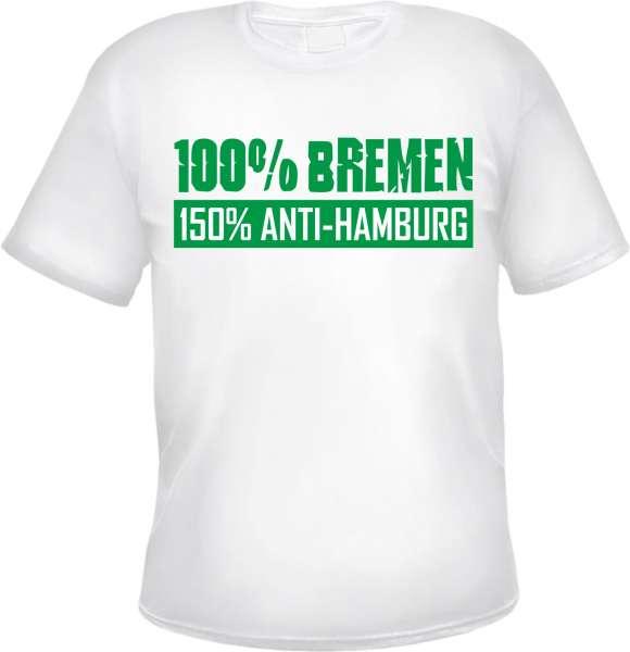 BREMEN Anti-Hamburg T-Shirt +++ weiss/grün