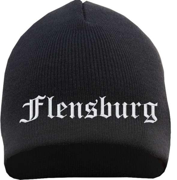 Flensburg Beanie - bestickt- Mütze