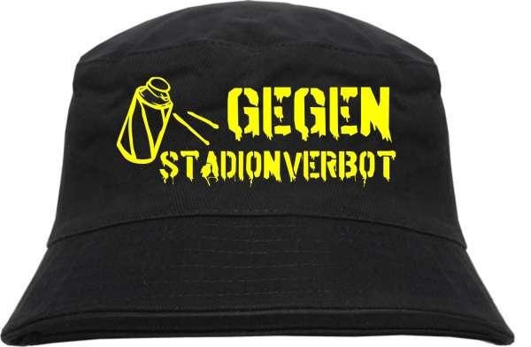 Fischerhut - GEGEN STADIONVERBOT - Druckfarbe wählbar