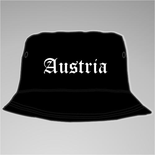 Austria Fischer-Hut +++ schwarz/weiss