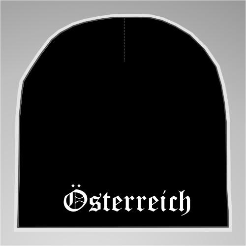 Österreich Strickmütze / Beanie +++ schwarz/weiss