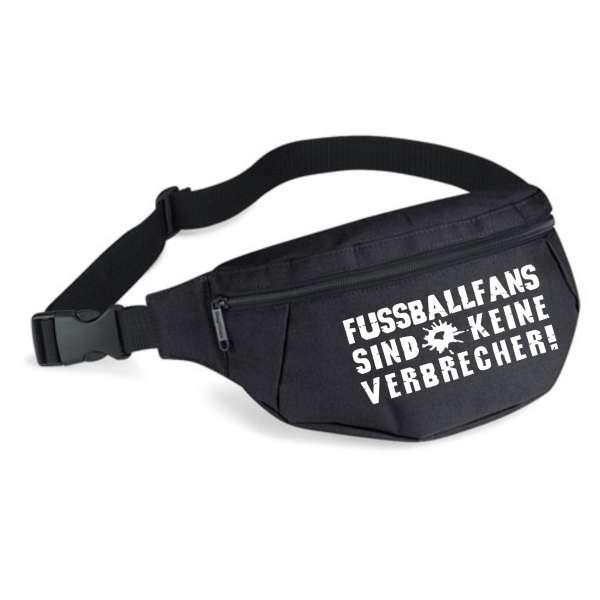 Bauchtasche - Fussballfans sind keine Verbrecher - Schwarz