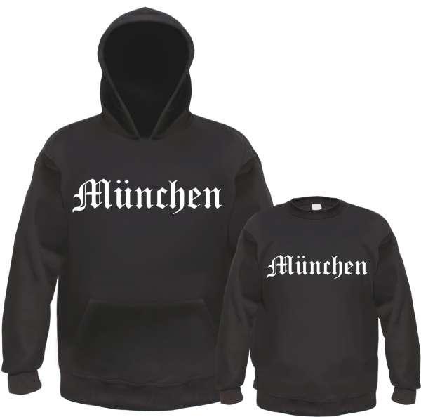 MÜNCHEN Sweatshirt - Altdeutsch - Schwarz/Weiss