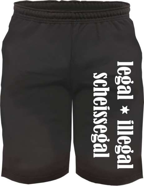 Sweatshorts - legal illegal scheissegal - Kurze Hose